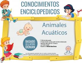Portada Conocimientos Enciclopedicos Metodo Doman Animales Acuaticos