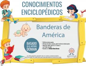 Portada Conocimientos Enciclopedicos Metodo Doman Banderas America